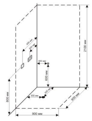 Схема подготовки коммуникаций для установки душевой кабины Timo