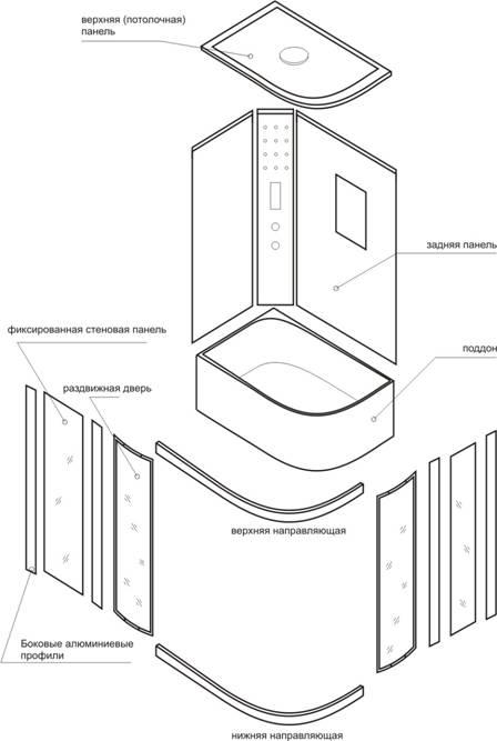 Общая схема сборки Т-1110, Т-1120