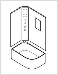 Установка задней и боковых стеновых панелей
