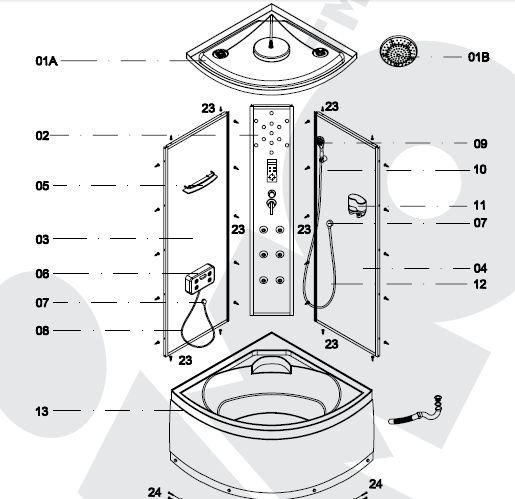 инструкция по сбору душевой кабины - фото 5