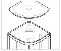 Установка потолочной панели душевой кабины Timo